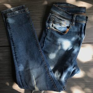 Zara Mens Skinny Elastic Fit Jeans